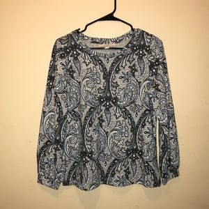 Womens Black and white top 100% cotton from loft